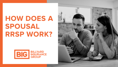Spousal RRSP Contribution | How Does a Spousal RRSP Work | Billyard Insurance Group | Couple looking at computer