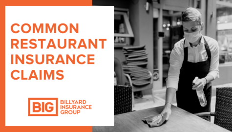 Restaurant Insurance Claims | Billyard Insurance Group | Restaurant Worker cleaning table