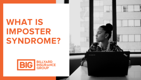 What Is Imposter Syndrome | Business Woman with Laptop Thinking | Billyard Insurance Group