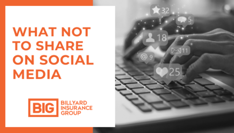 What Not To Share On Social Media | Billyard Insurance Group | Laptop with Social Notifications